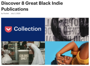 Image of pocket article titled Discover 8 Great Black Indie Publications