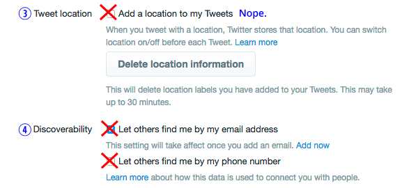 how to find the location of a twitter account