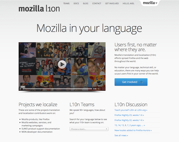 l10n.mozilla.org with the theme