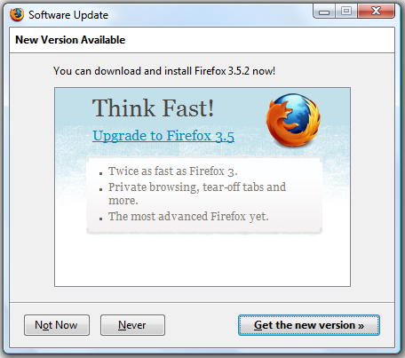 about firefox update