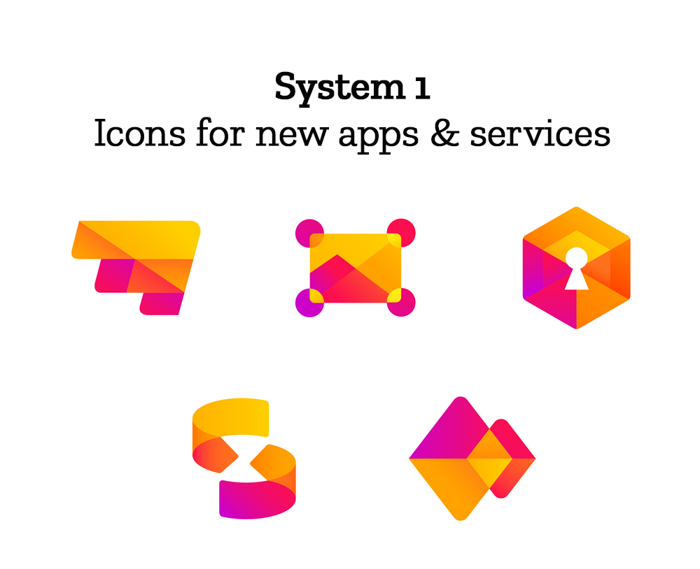 Icons for new apps & services