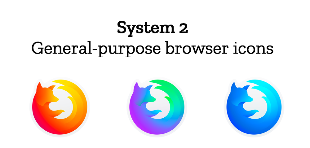 System 2: General-purpose browser icons