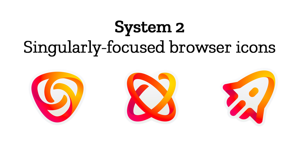 Singulary-focused browser icons