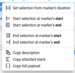 Right clicking on a marker will open a context menu that you can do various marker operations.
