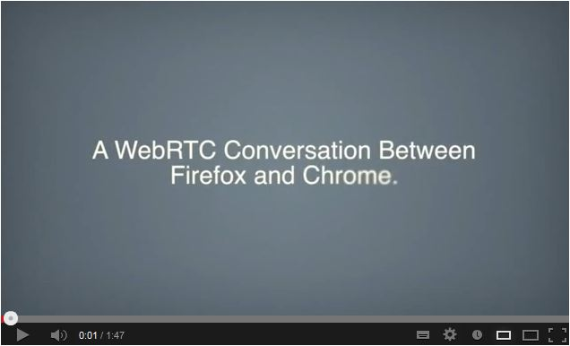 WebRTC: A conversation between Chrome and Firefox.