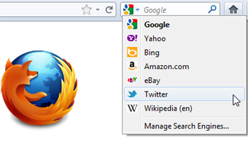 Twitter Search in Firefox