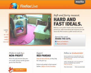 Firefox Live website