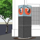 Concept photo of the Mozillians monument