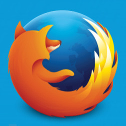 Firefox Logo on blue background