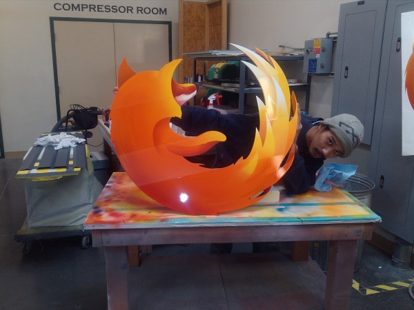 Airbrushed Firefox logo