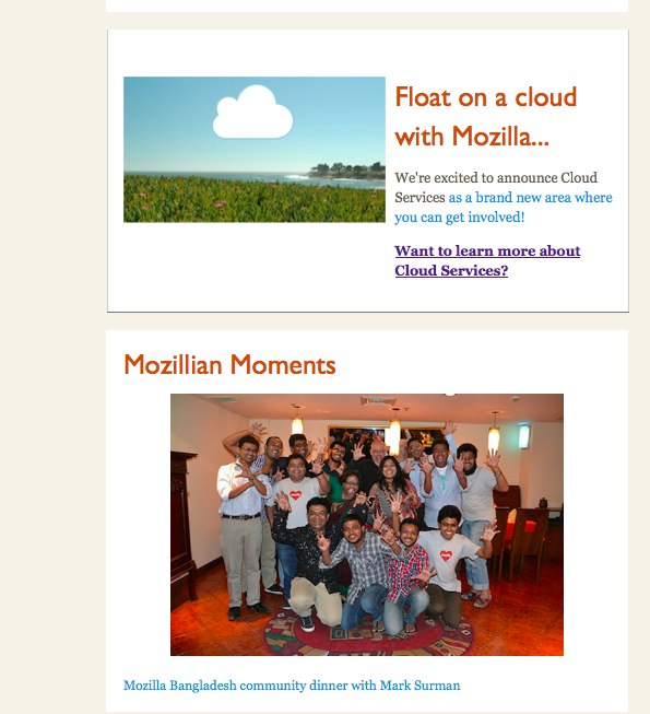Last story and Mozillian Moments