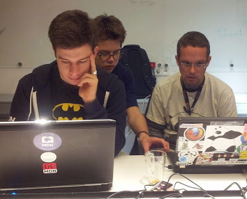 Julien (in the Batman t-shirt) with other Mozilla Francophone contributors at a localization sprint