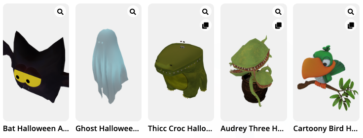 Virtual Halloween costumes in Mozilla Hubs