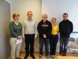 Jeff Beatty with members of the Icelandic Language Institute
