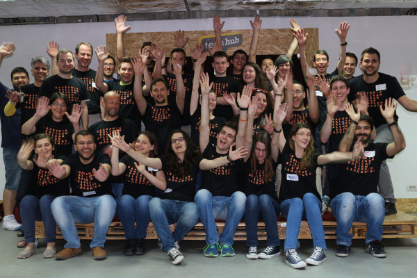 The group photo in brand new Balkans T-Shirts!