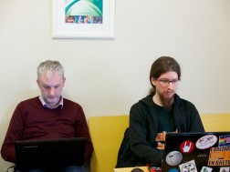 Breton and Welsh localizers working on Mozilla l10n projects.