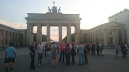 Brandenburg Gate and the team