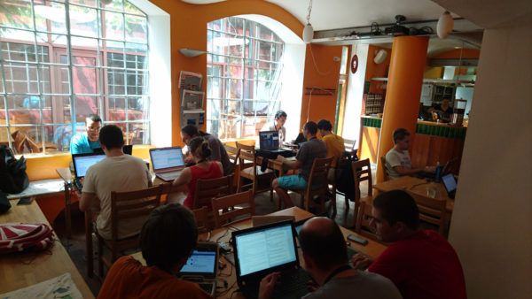 Working in groups in Ljubljana