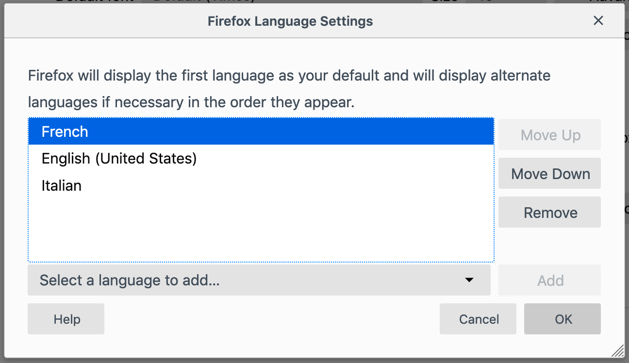 Changing the Language of Firefox Directly From the Browser