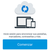 Firefox para Android - Sync