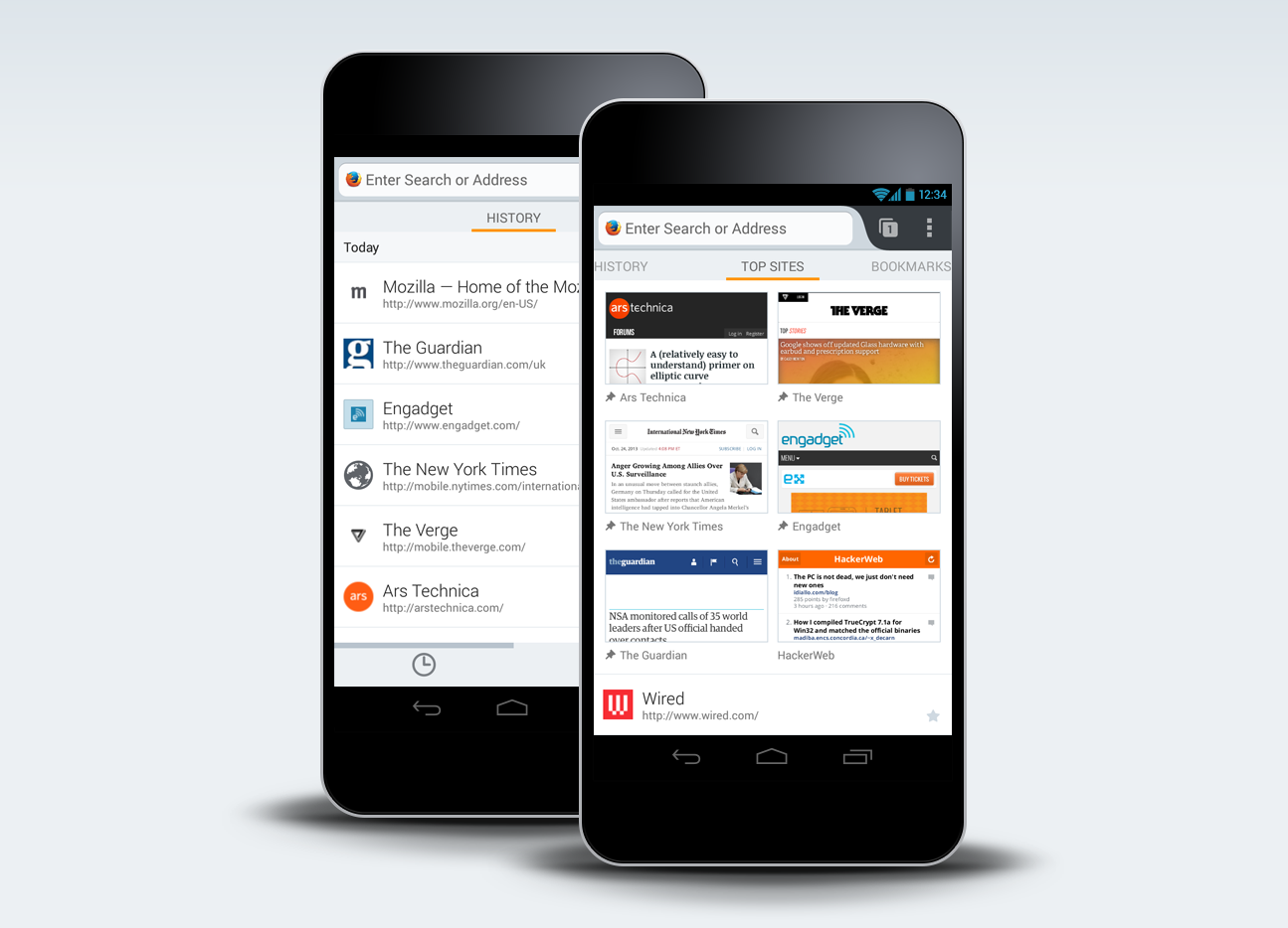 New Home Screen in Firefox for Android: Access Your Information in a ...