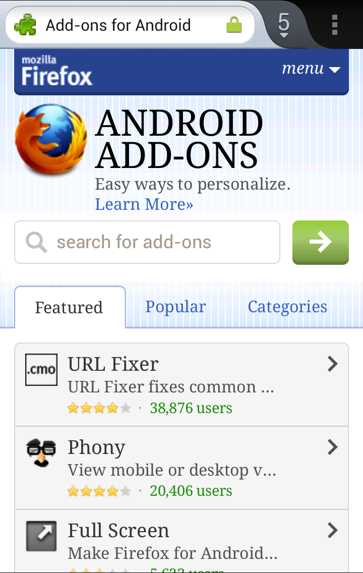 Android Add-Ons