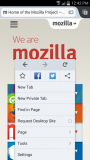 Firefox for Android - Menu 177kb PNG