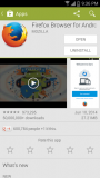 Firefox for Android in the Google Play Store 121kb PNG