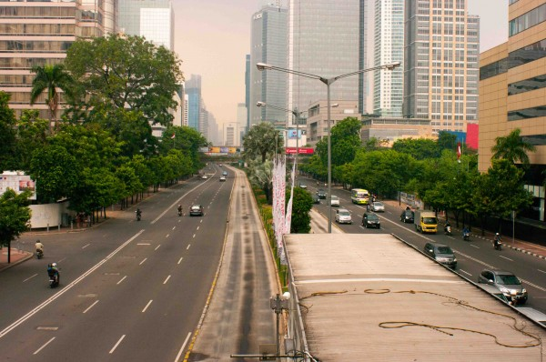 Central Jakarta (on a Saturday morning without traffic)