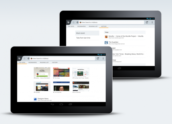 Firefox Home - Tablets
