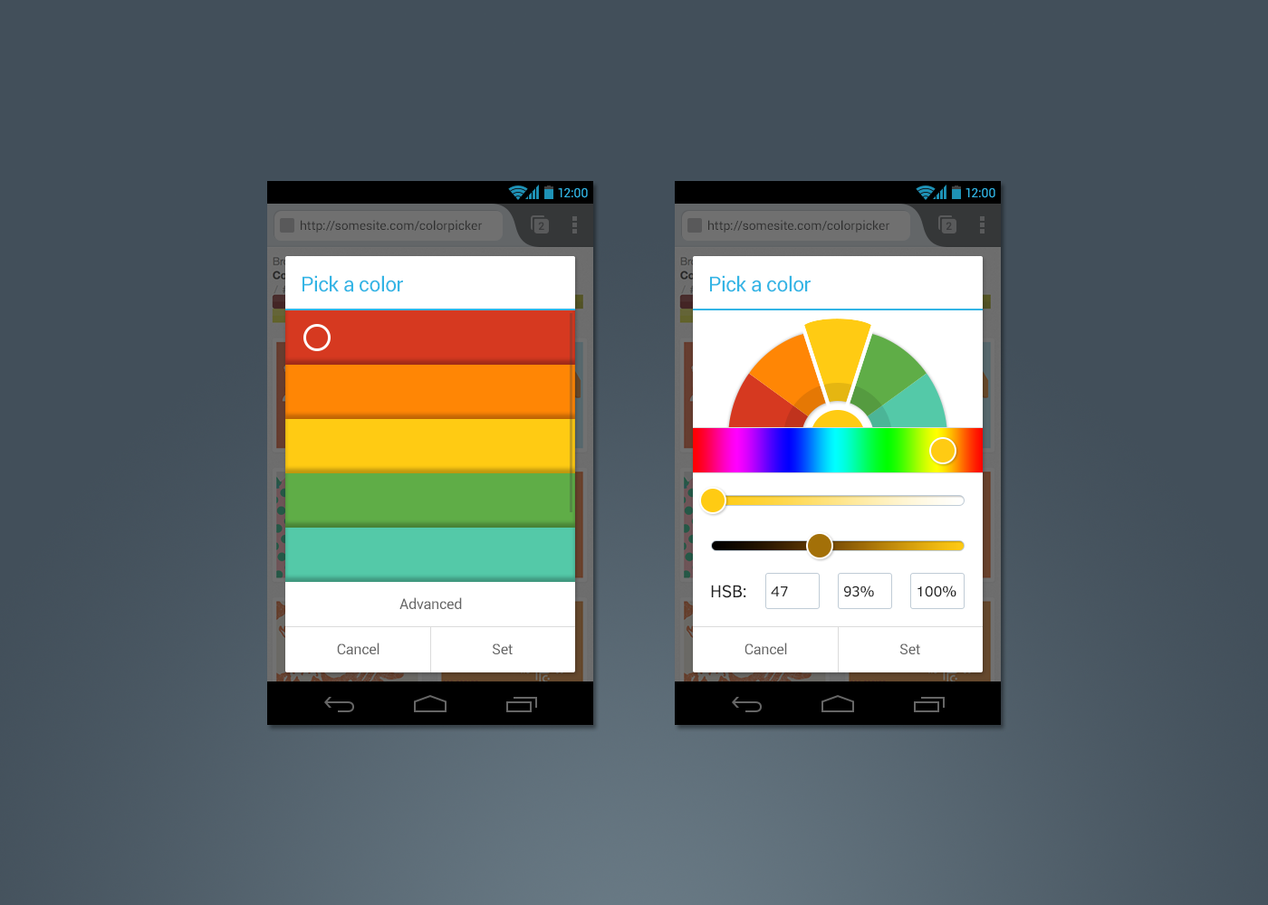 Android Image Picker a new colour picker on firefox for android – firefox ux