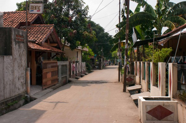 A typical middle class street in Jakarta