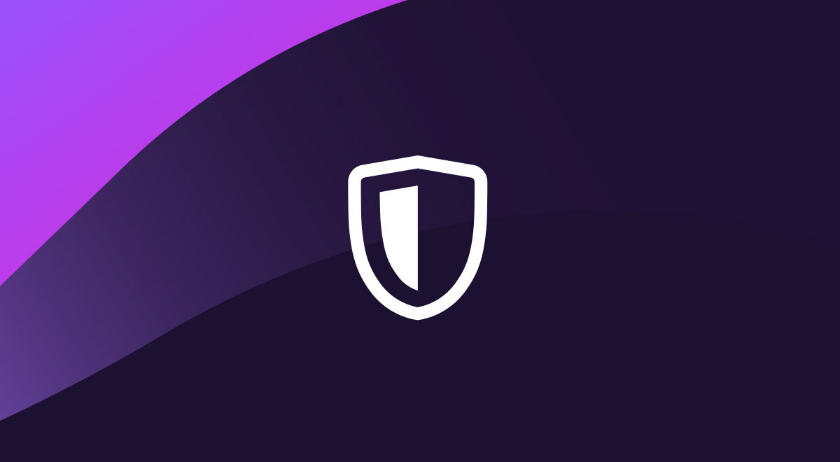 "Image of a shield on purple background with the words ""Enhanced Tracking Protection."""