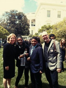 Mozilla and Hive kids at the White House Science Fair