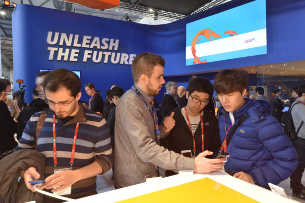 Building relationships on the Firefox stand at MWC 2014