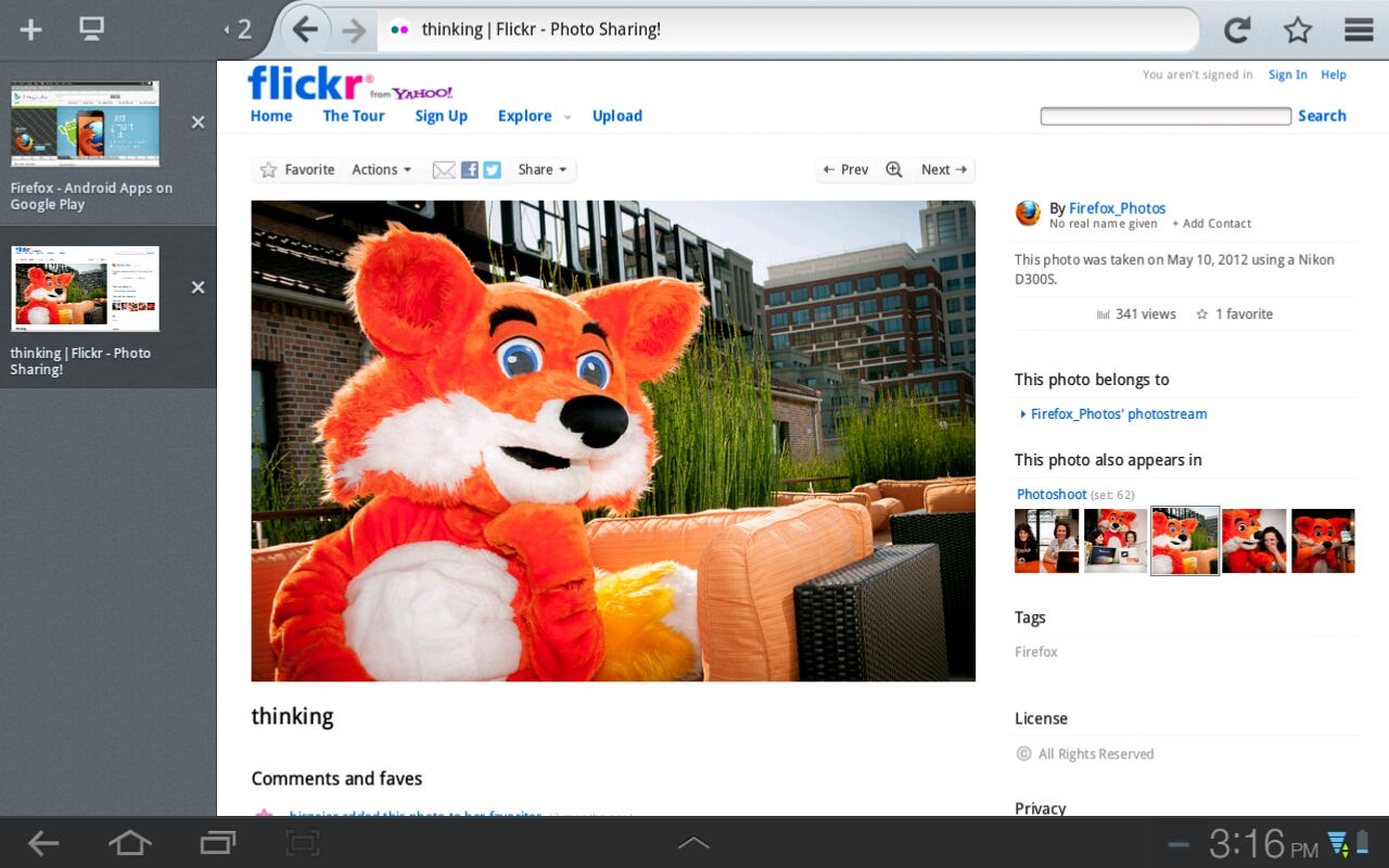 New Tablet Redesign on Firefox for Android
