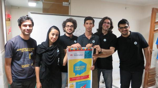 Maker Party mentors and organizers in Iran