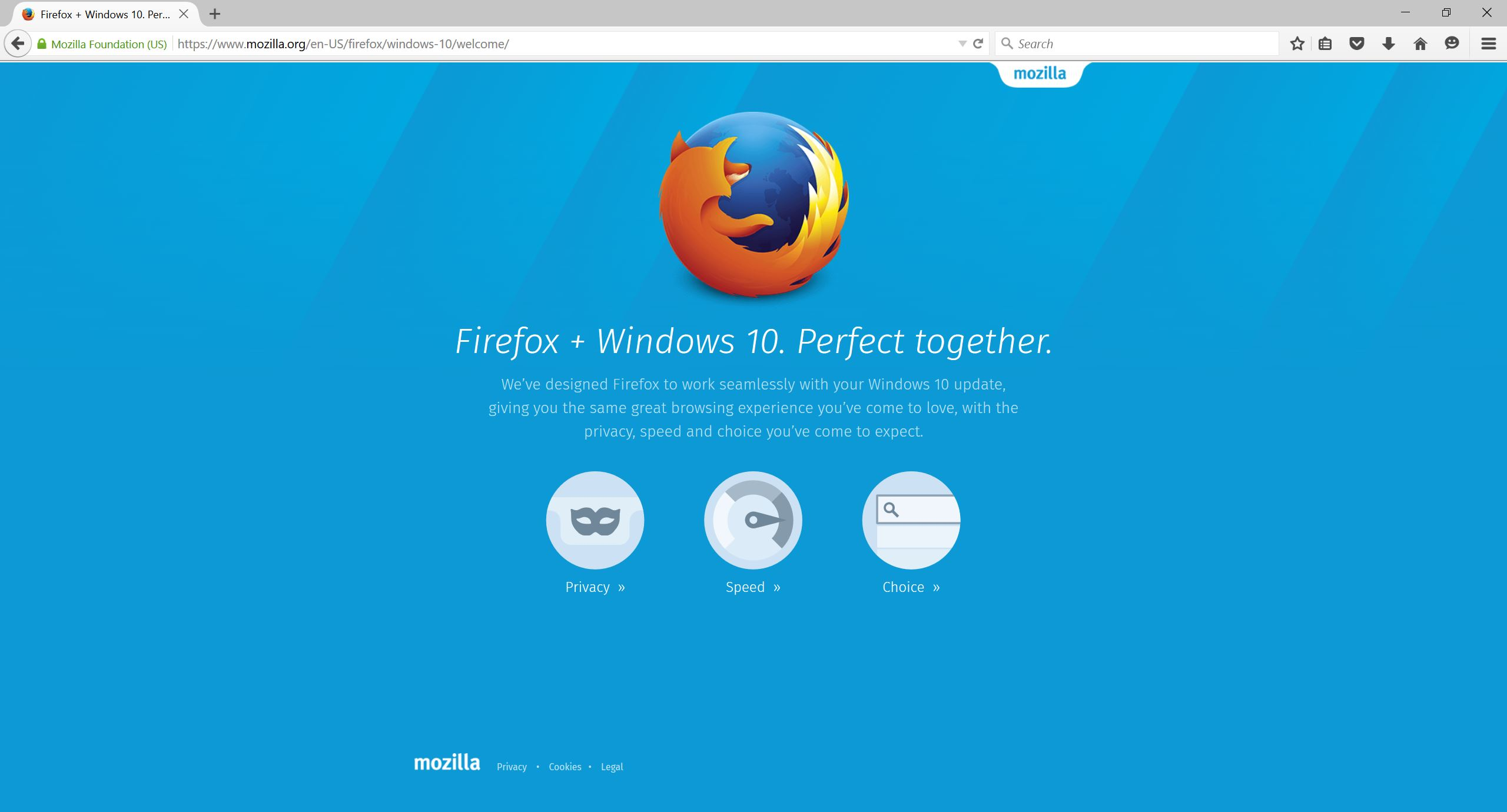 Firefox in Windows 10