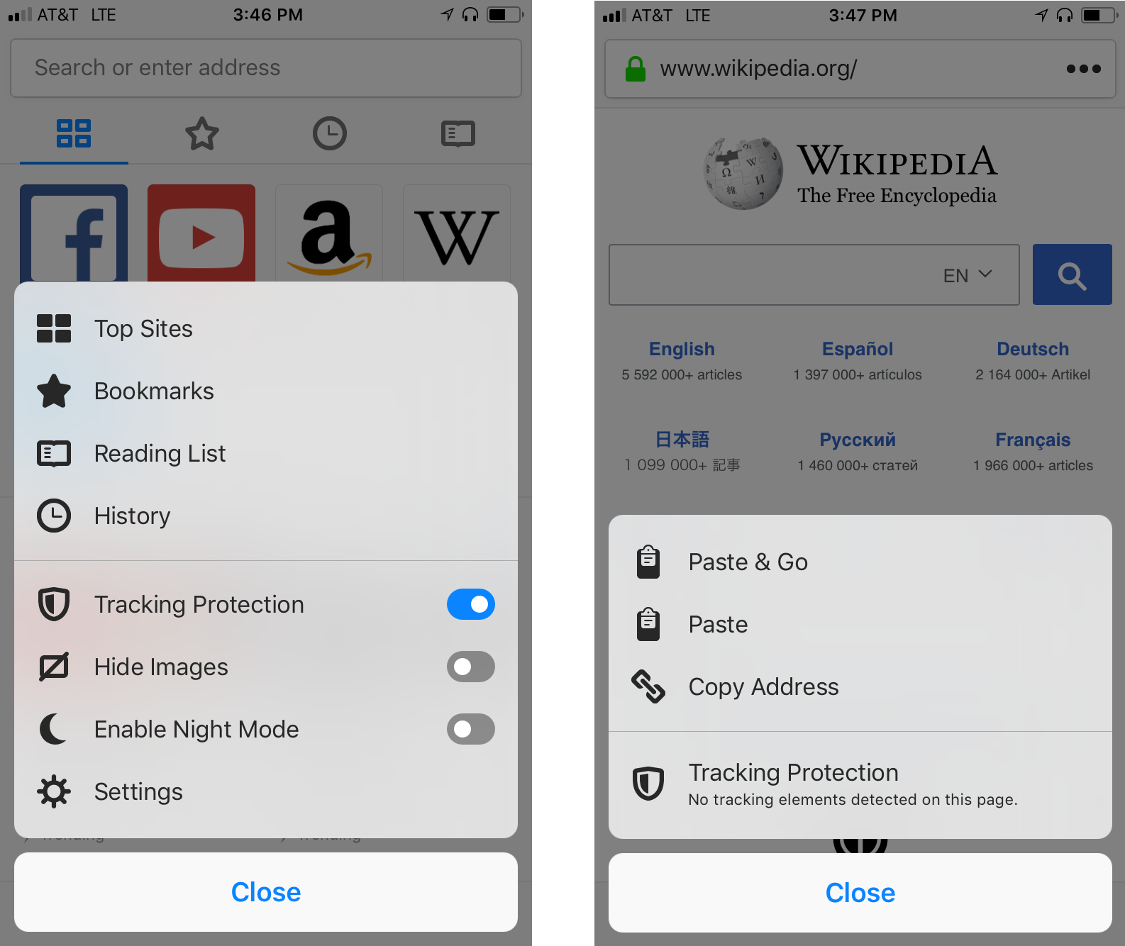 Mozilla updates Firefox for iOS with tracking protection on by default